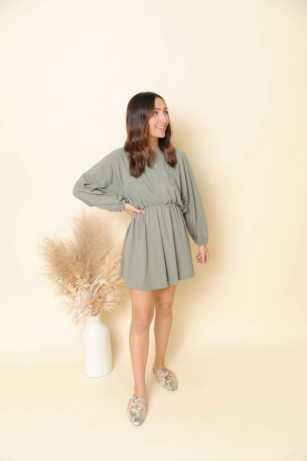 Z Supply Karla Dusty Sage Dress