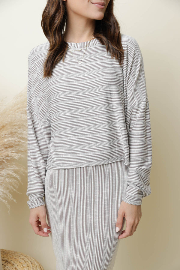 Laguna Beach Striped Ribbed Sweater