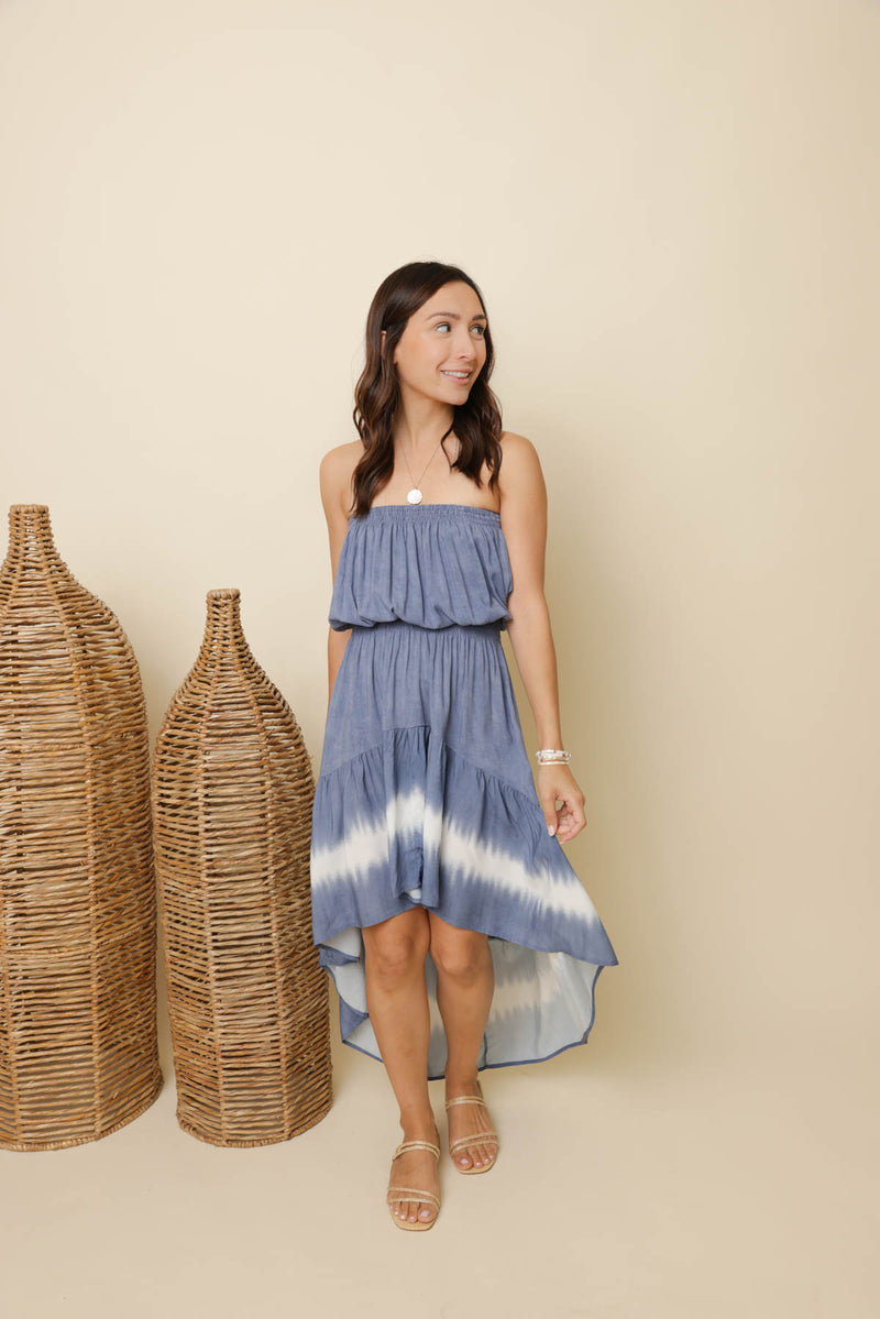 Vitamin Sea Denim Tie-Dye Dress