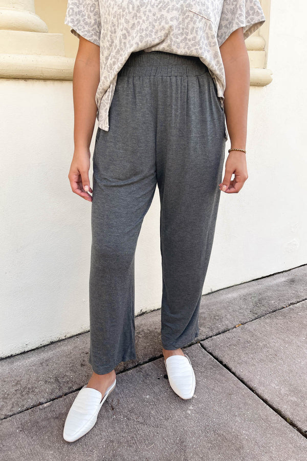 Time's Up Charcoal Culottes