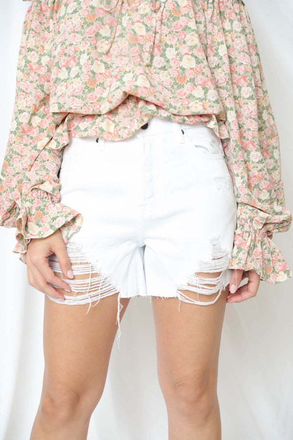 Alexis White Denim Shorts