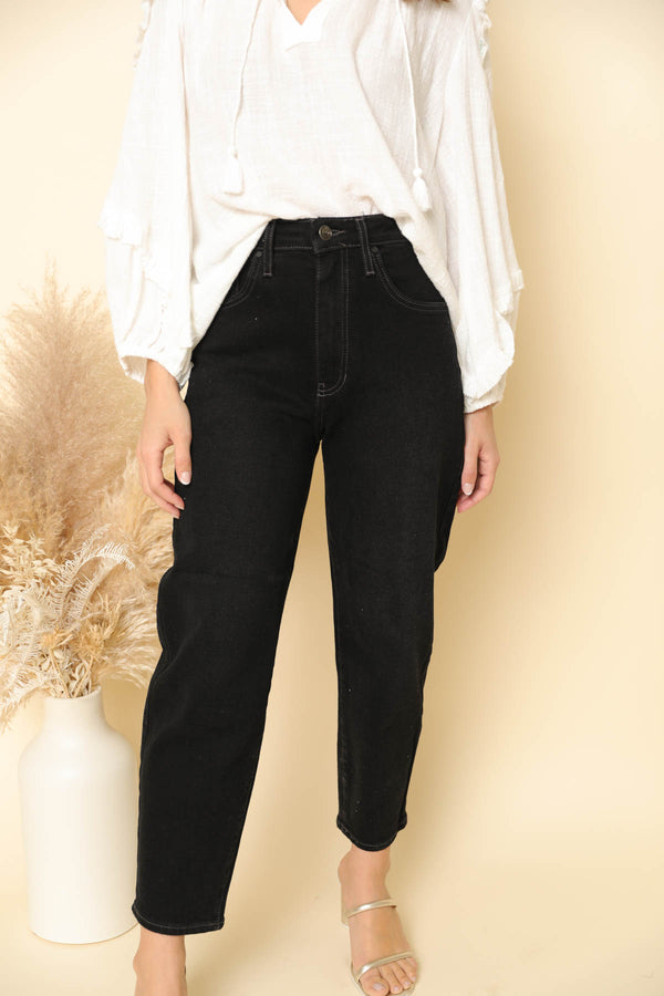 Mariah Black High-Rise Jeans