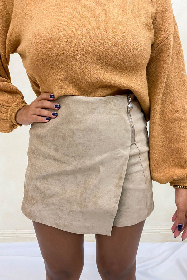 Love On You Suede Skort