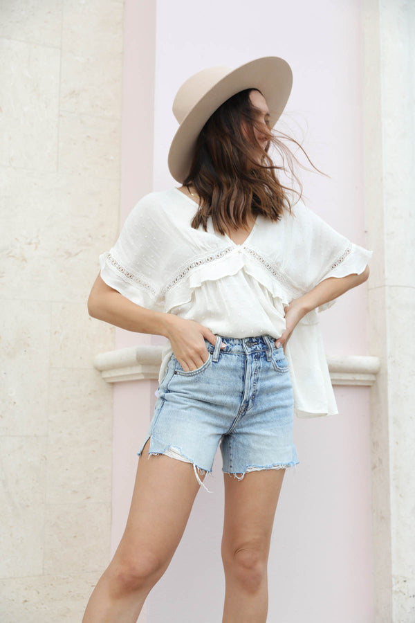 Sofie High-Rise Denim Shorts