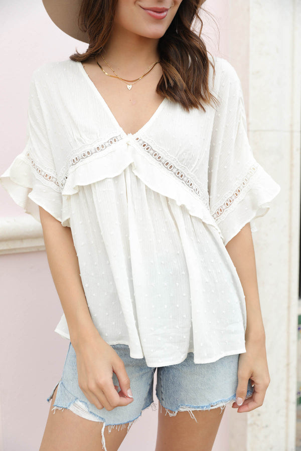 Adelia Lace Blouse
