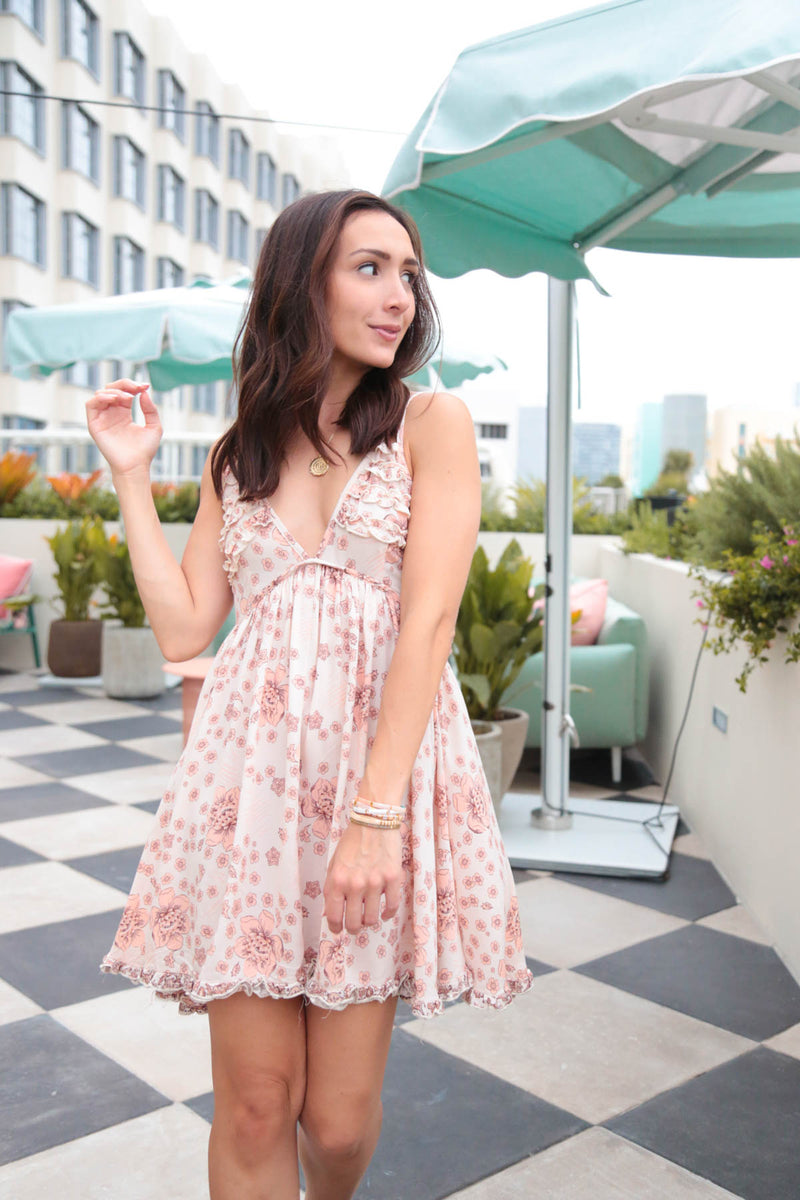 Palm Springs Floral Mini Dress