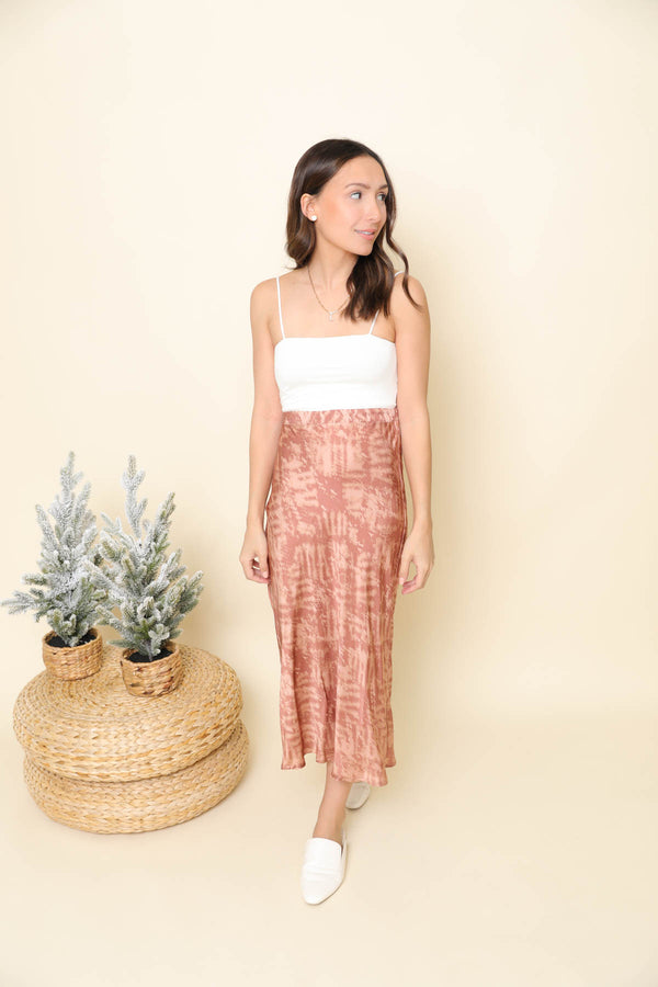 In Too Deep Printed Midi Skirt