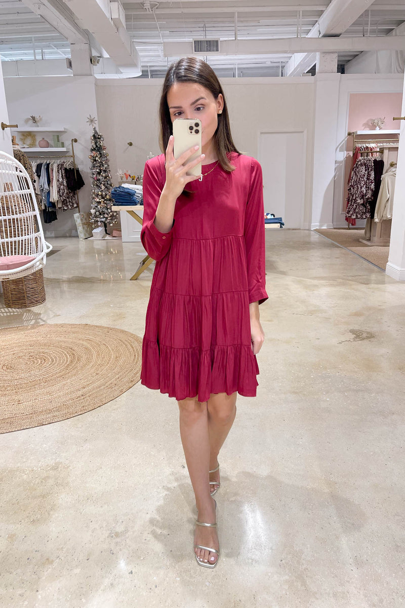 Sweet Love Burgundy Dress