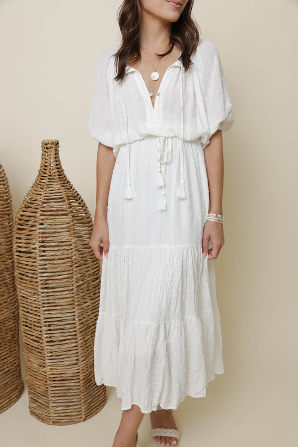 Lovely Lady Ivory Midi Dress