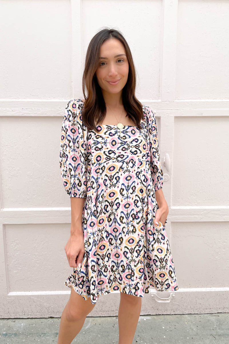 The Della Blue Printed Dress
