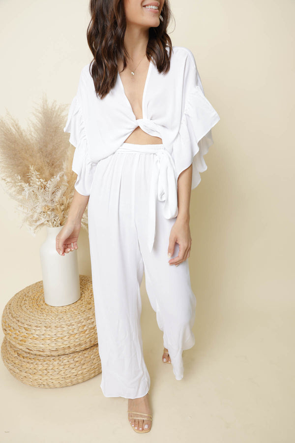 Ibiza White Jumpsuit