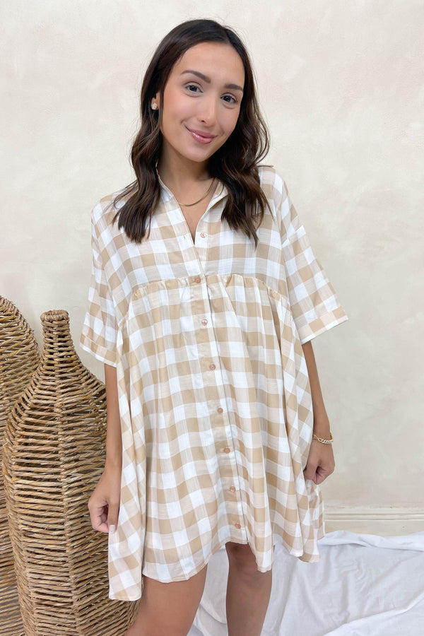Fools Rush In Gingham Dress