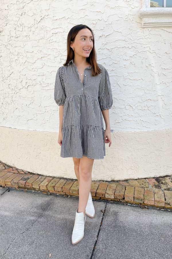 Leila Gingham Dress