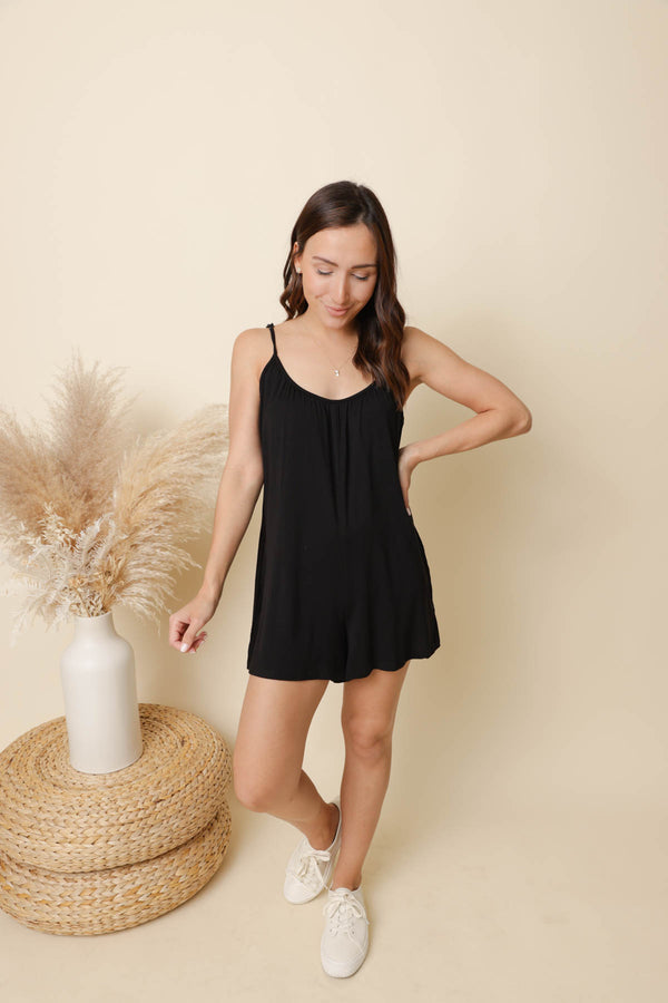 Z Supply Krista Black Sleek Romper