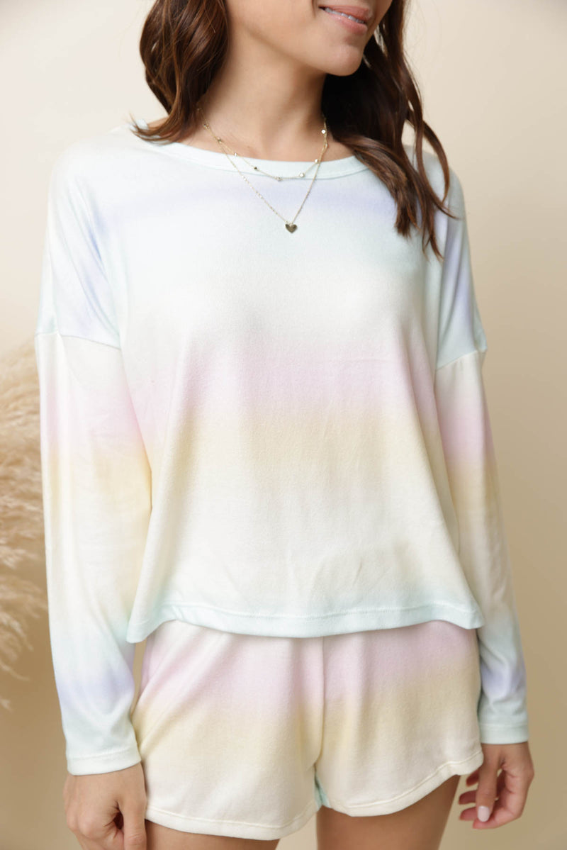 Z Supply Skylar Rainbow Long Sleeve Top