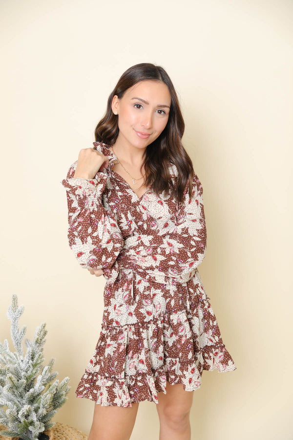 Near or Far Brown Dress