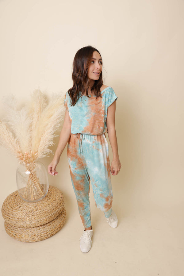 Somewhere Breezy Tie-Dye Jumpsuit