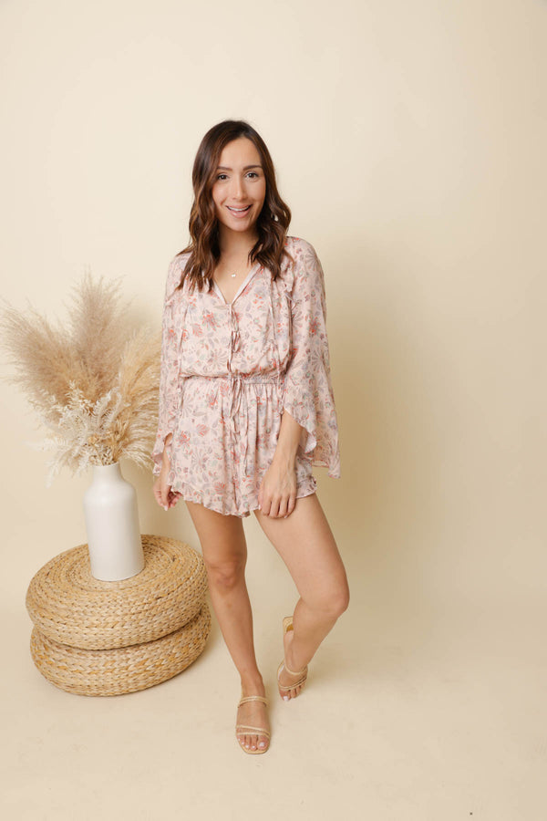 Boardwalk Sunsets Blush Romper