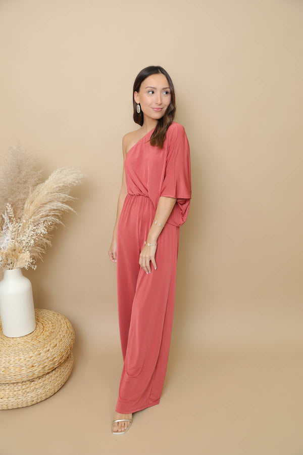 See You Coming Marsala Jumpsuit