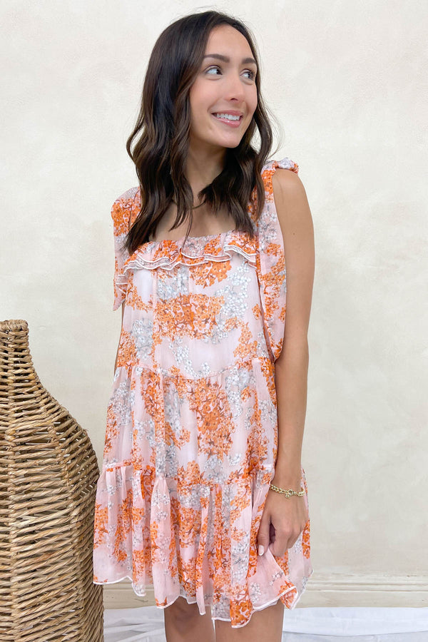 Dahlia Blush Floral Mini Dress
