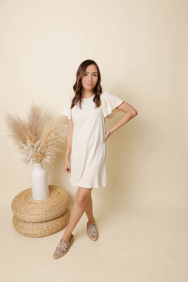 Z Supply Bone Sofia Cotton Slub Dress