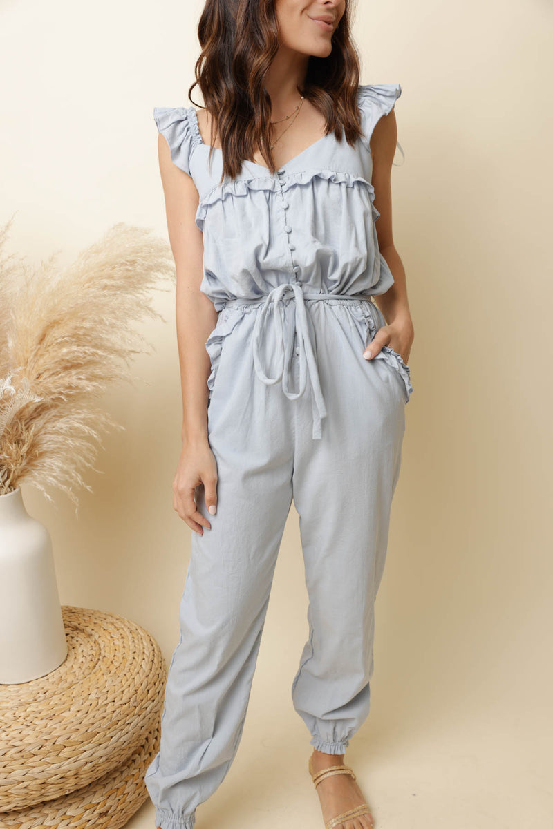 Destined For Greatness Blue Jumpsuit