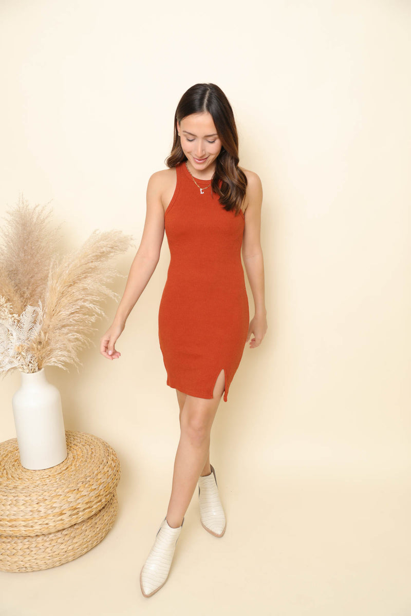 Making Moves Rust Bodycon Dress