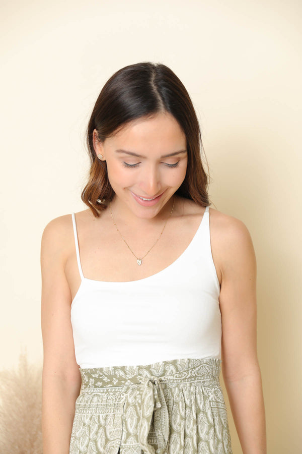 Geraldine White Crop Top