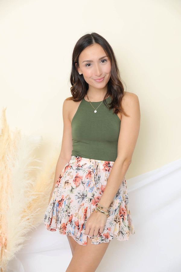 Speak Up Floral Mini Skirt