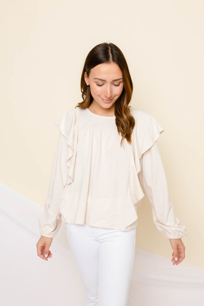 Like The Rest Of Them Ruffle Top
