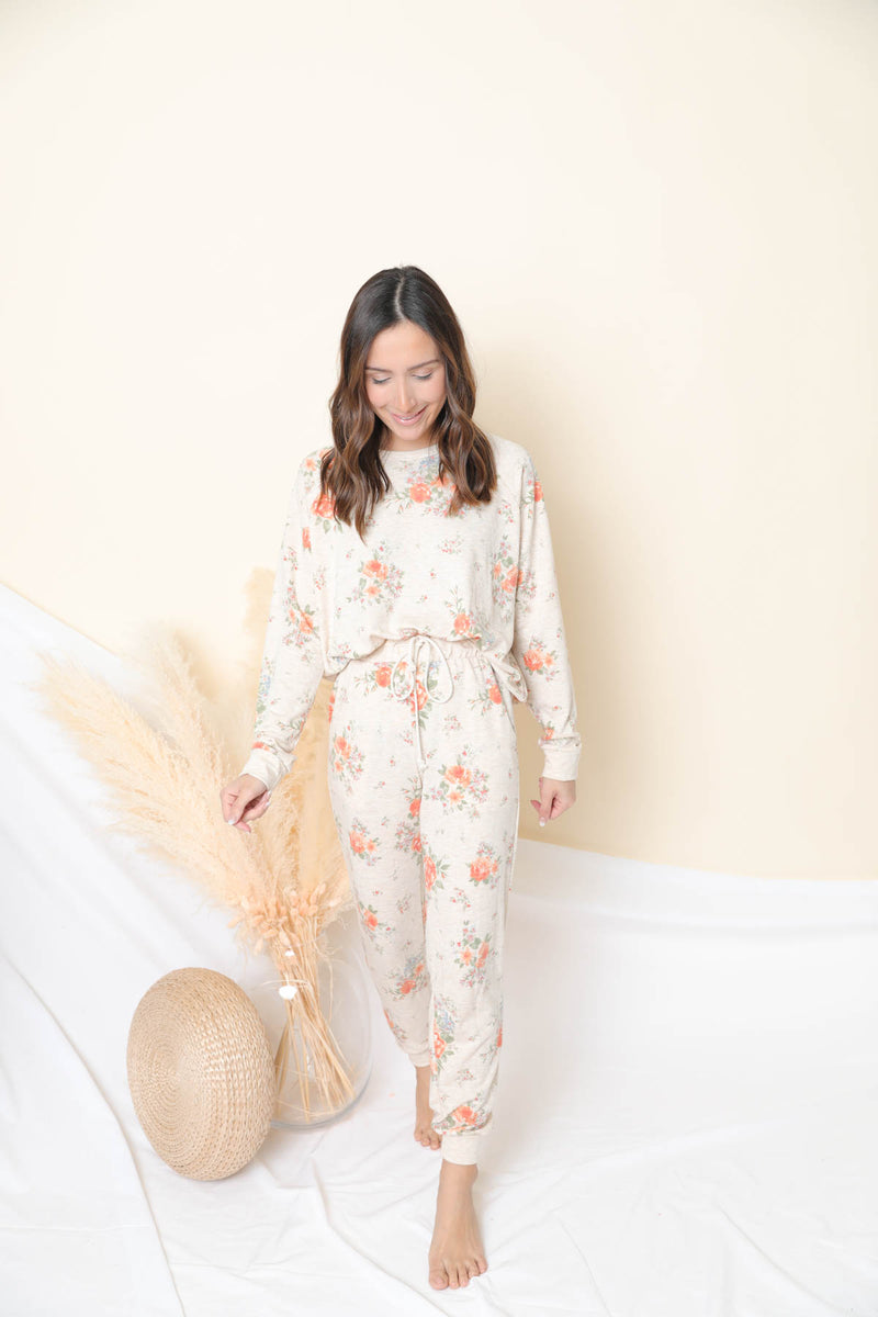 It's Your Call Floral Loungewear Set