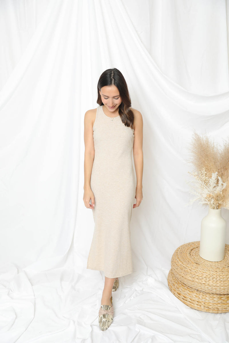 Rendezvous With Me Oatmeal Dress