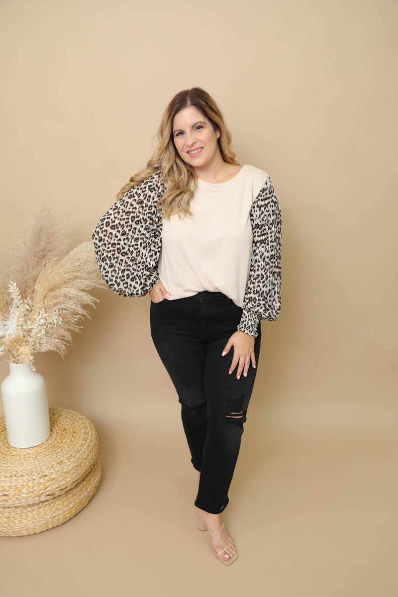 Thinking About You Leopard Blouse