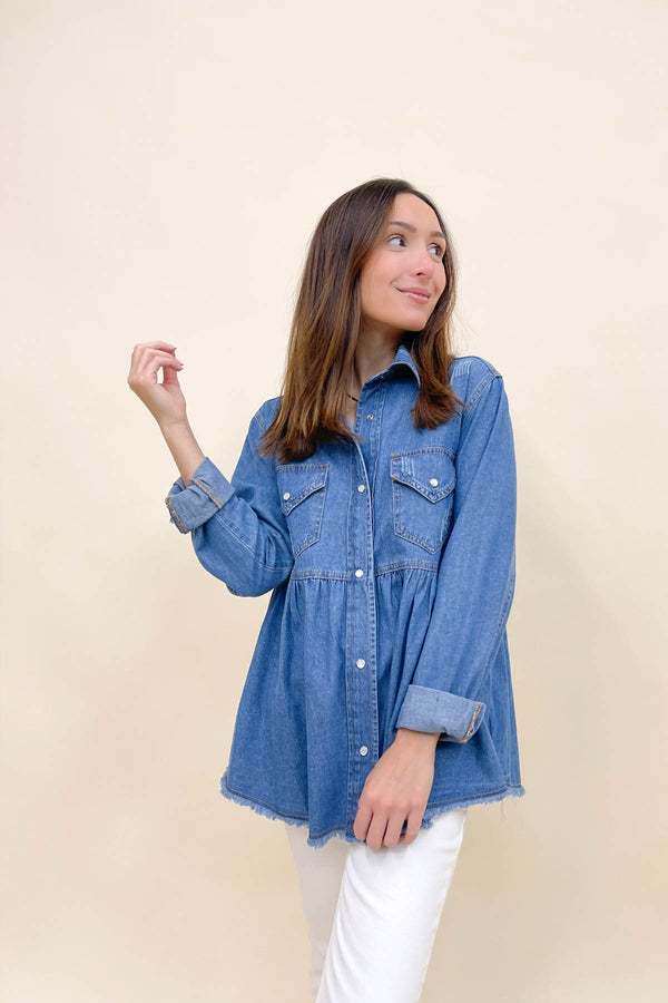 Darlene Denim Top