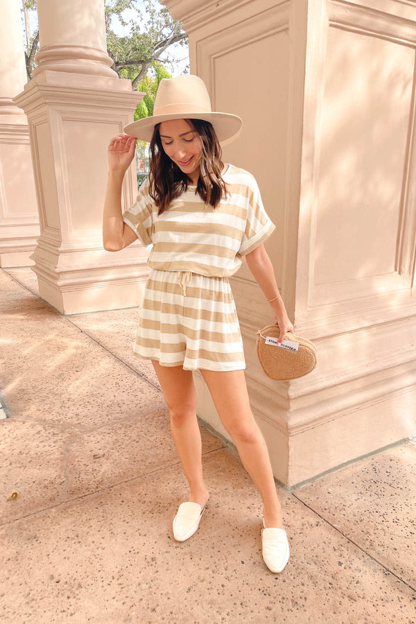Maggie Sand Striped Romper