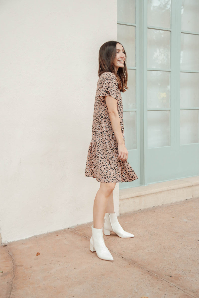 Hot Latte, Please Printed Dress