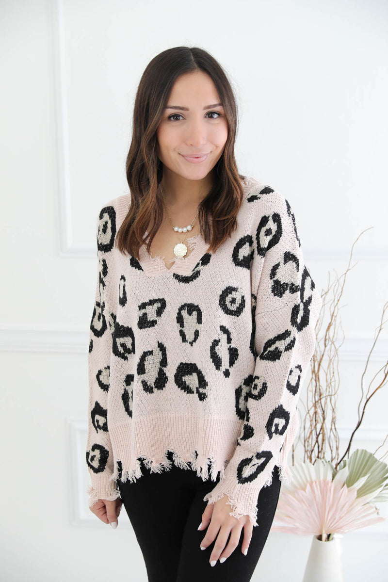 Truth Be Told Leopard Sweater