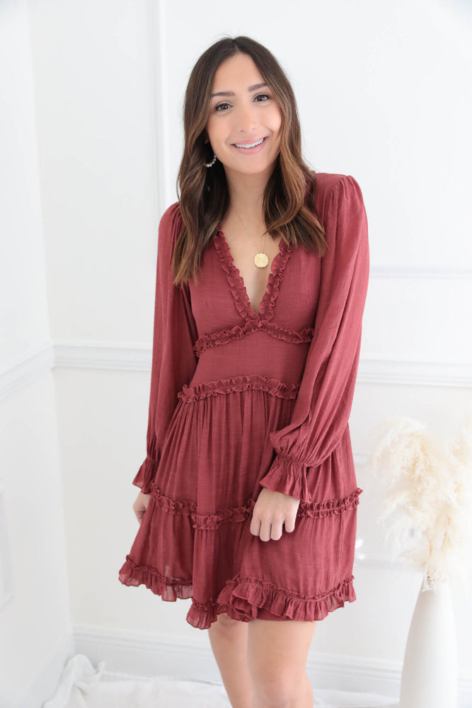 Love You Better Burgundy Dress