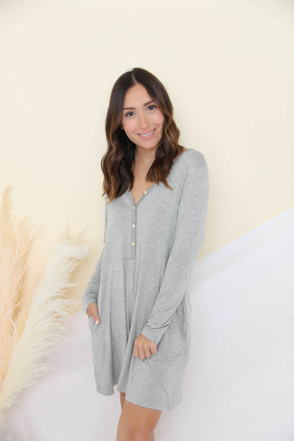 Staying In Gray Romper