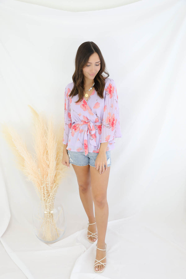 See It Happen Floral Blouse