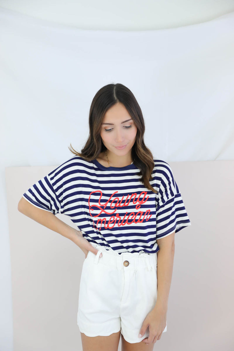 Young American Striped Top
