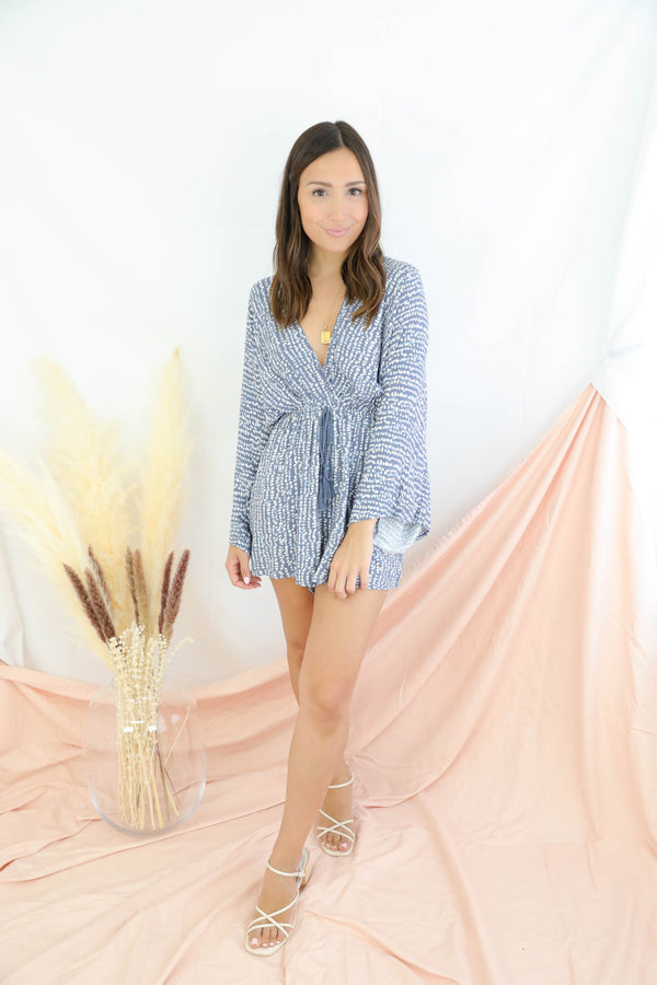 The Sky Is Yours Navy Romper