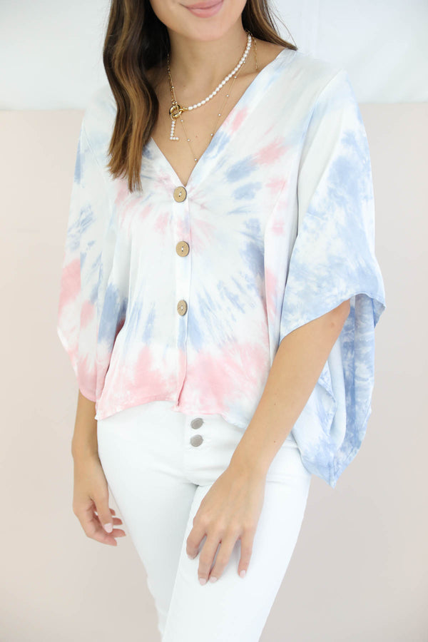 Show Me The Way Tie Dye Top