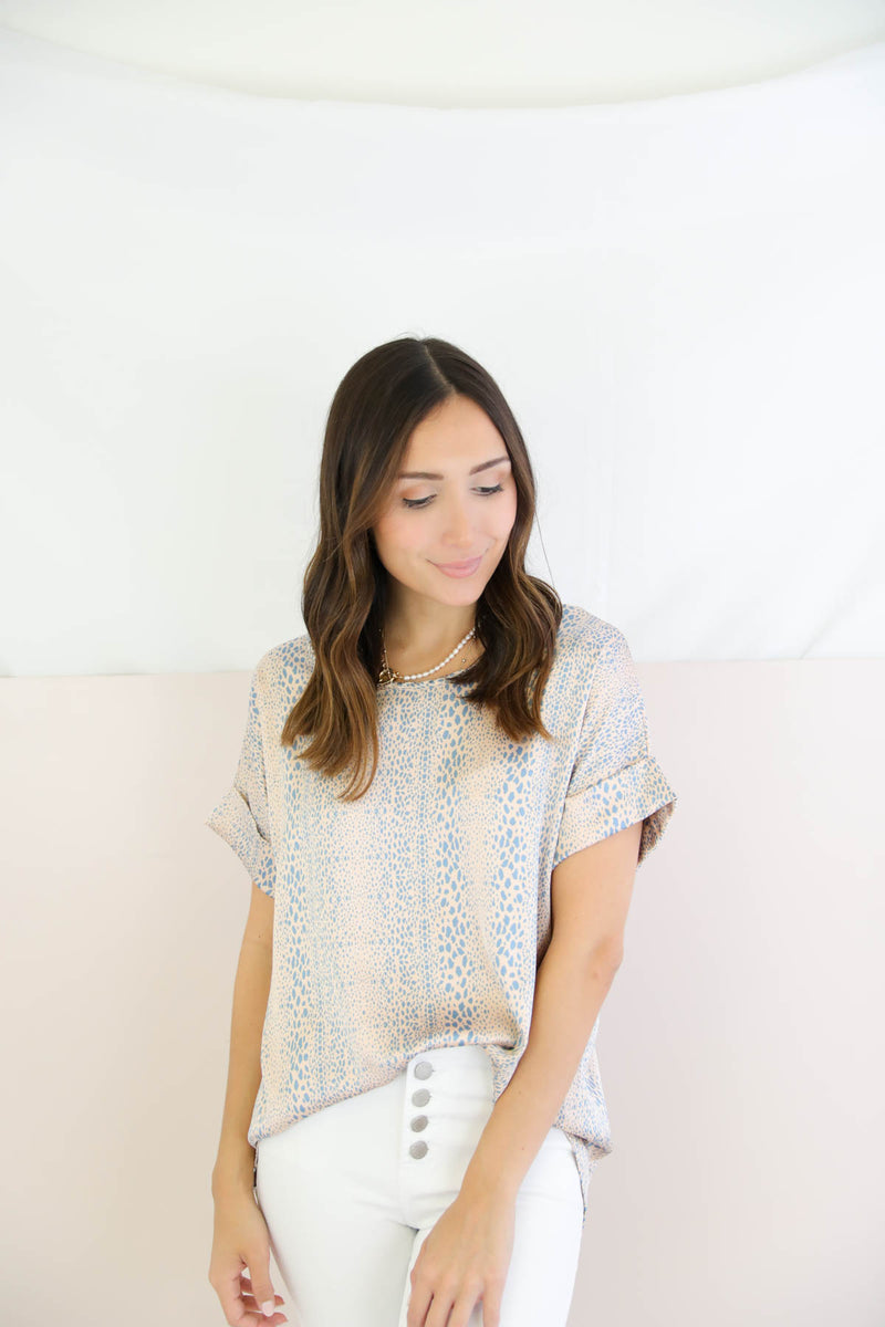 Somebody Else Blush Printed Top