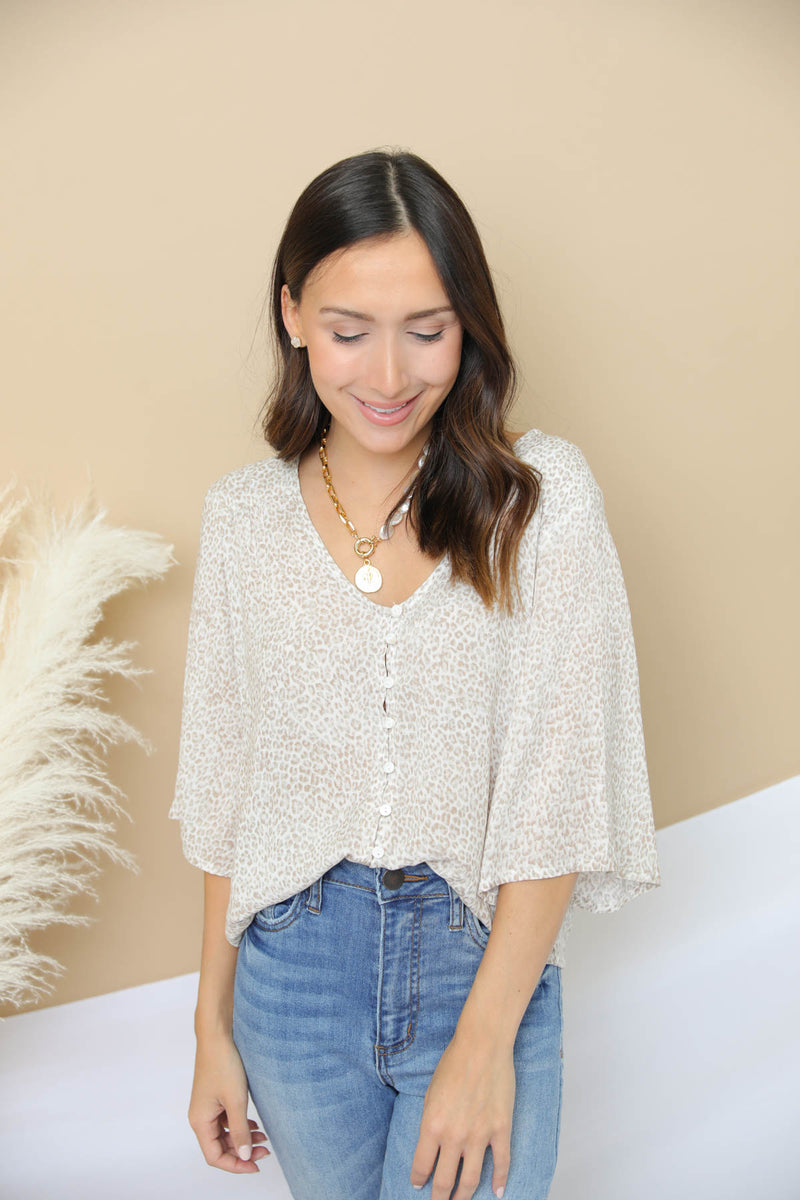 Second Thought Printed Top
