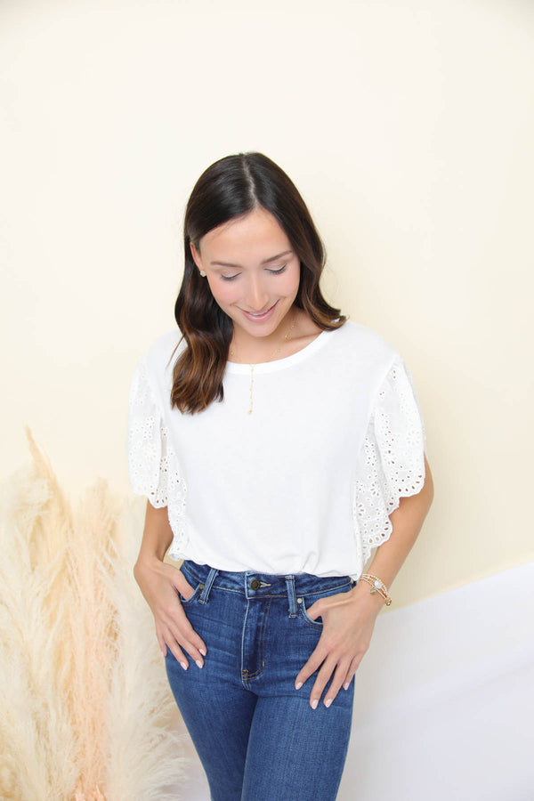 The Poppy White Blouse