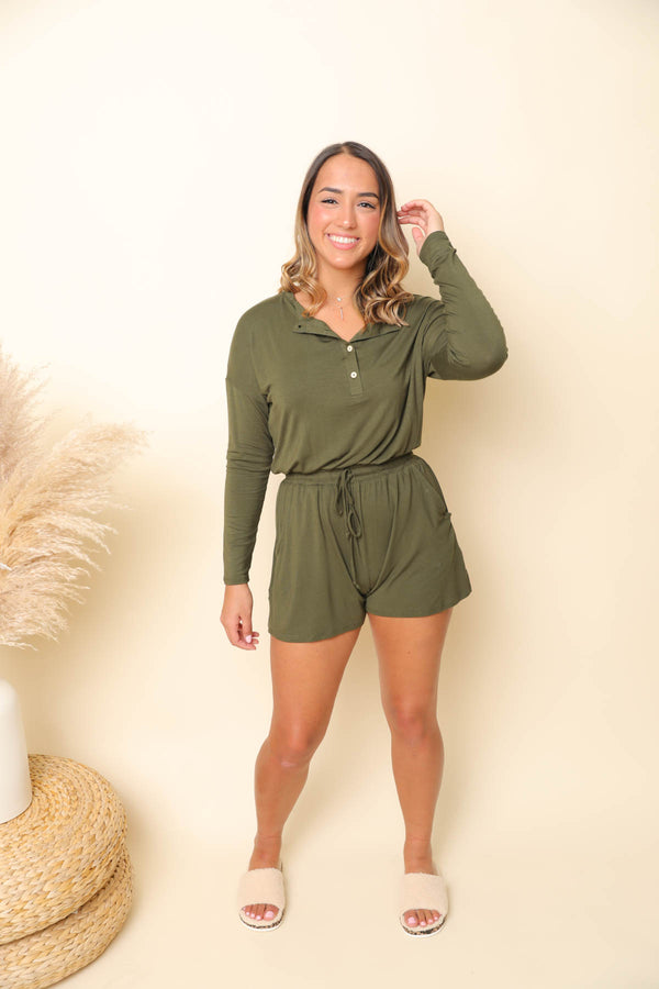 Love Is Blind Olive Romper