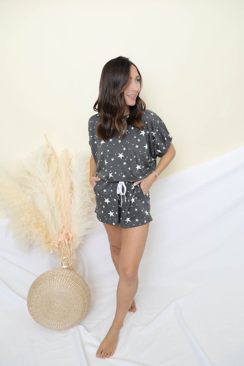 What's Your Zodiac Charcoal Romper