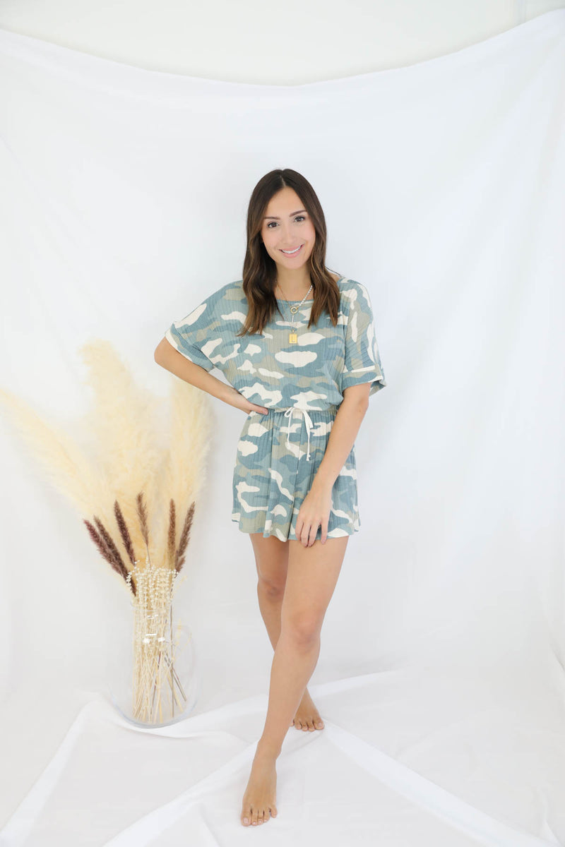 Strong Connection Camo Romper