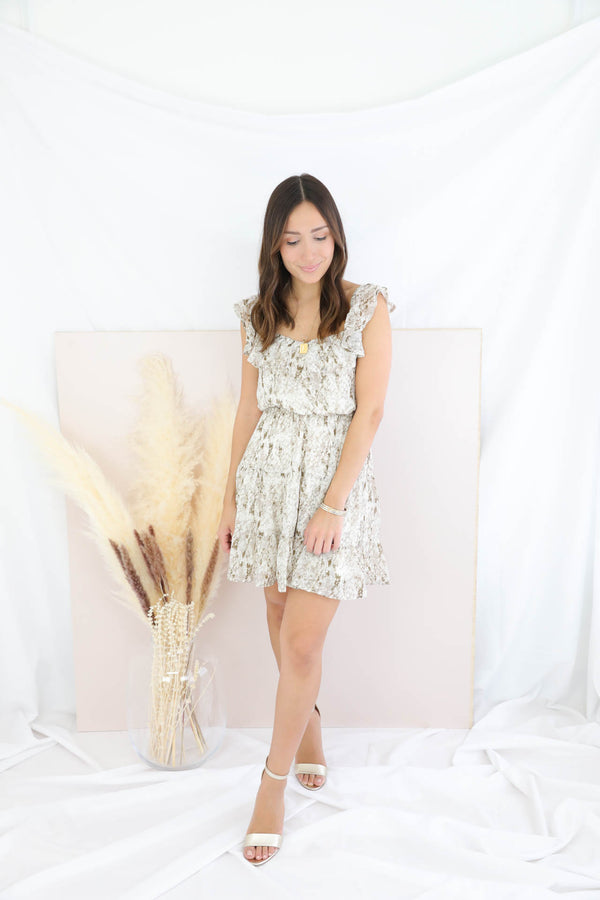 True Connection Snakeskin Dress